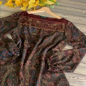 Ralph Lauren Sheer Paisley Blouse